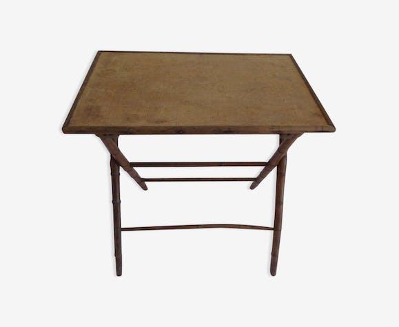 Table Dappoint Pliante Bois Matériau Bois Couleur Vintage