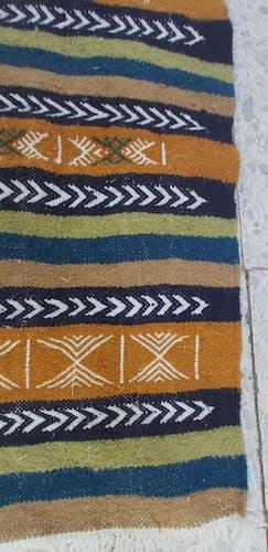 Tapis kilim berbère traditionnel 105×55cm