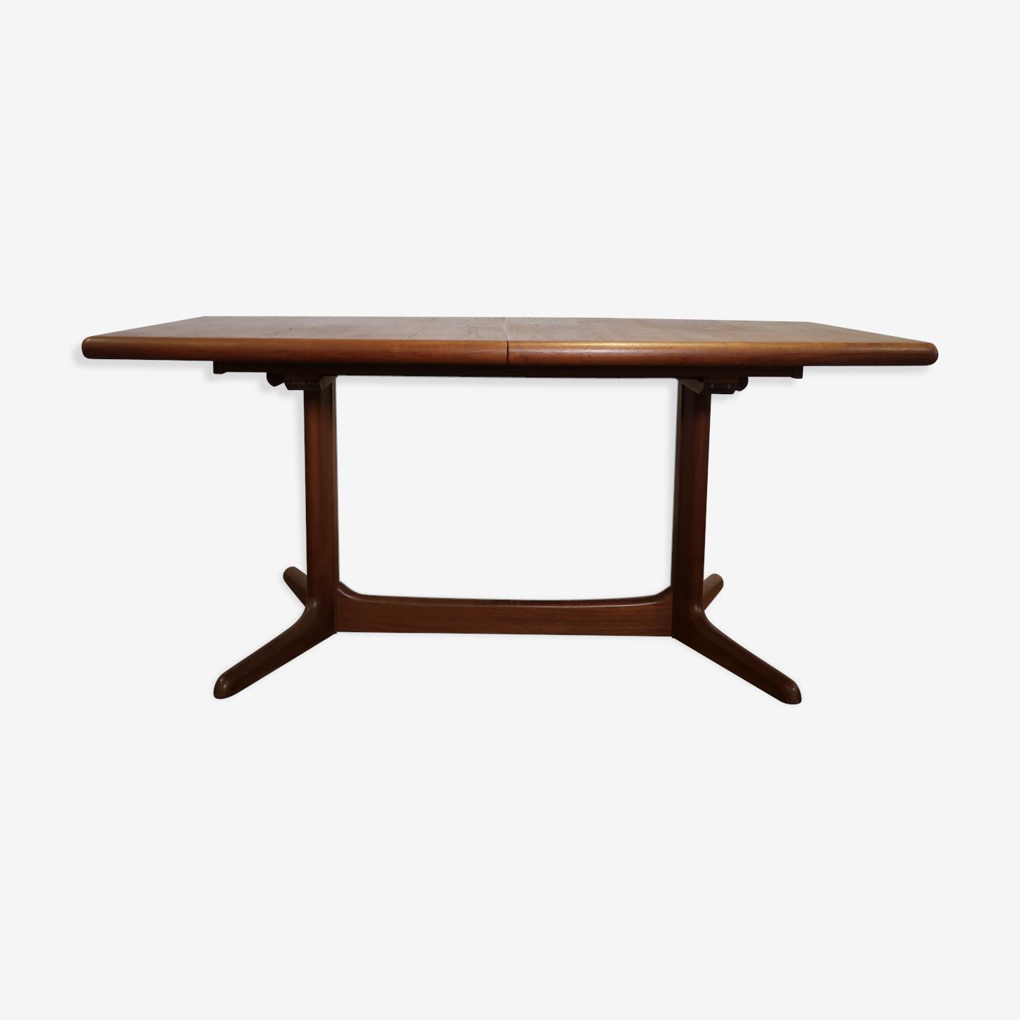 Table de salle à manger en teck avec allonges Danemark 1960's