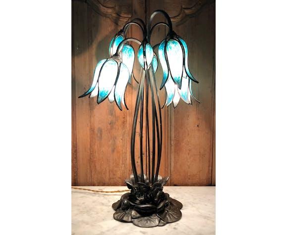 Lampe art nouveau à 7 bras