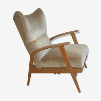Wingback Chair wing chair beige Knoll 1965