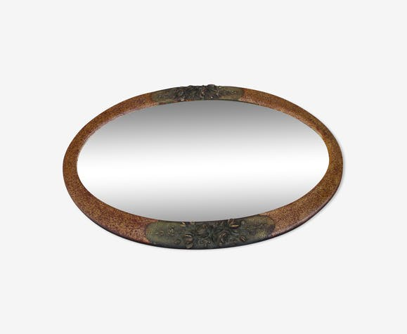 Oval mirror art deco 77x52cm