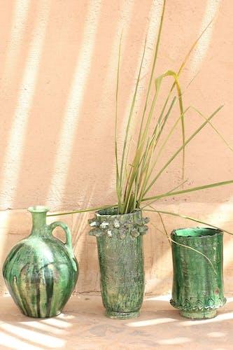 Vase tamegroute vert émaillé