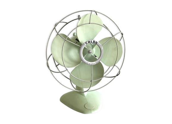 ventilateur calor ann es 50 60 plastique vert vintage t31nkow. Black Bedroom Furniture Sets. Home Design Ideas