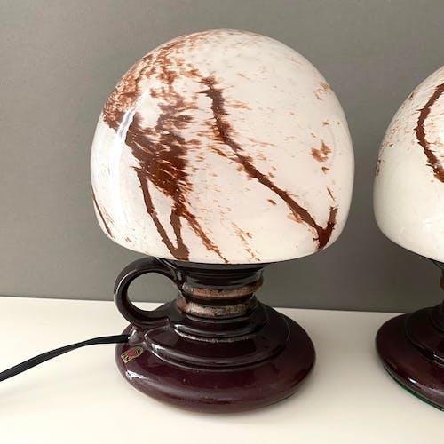 Lot de 2 lampes de table en céramique pan, 70