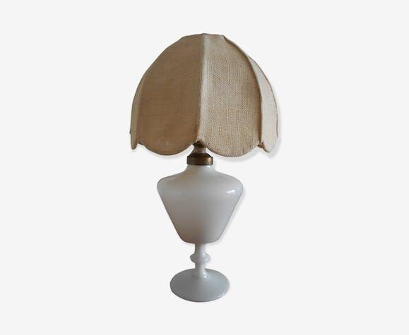 Et Chevet Jute Lampe En Toile De Porcelaine Céramique nwmvN0O8
