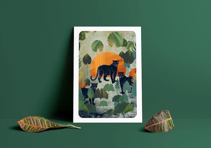 Illustration «Félines» A4