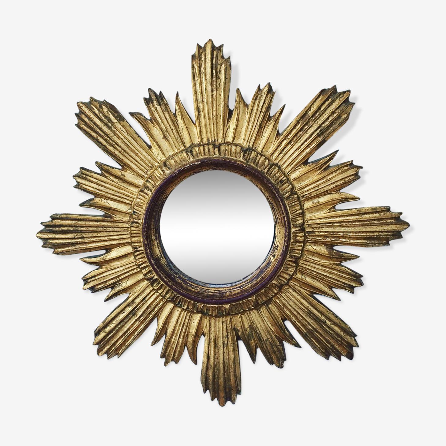 Miroir soleil en bois diamètre 45cm