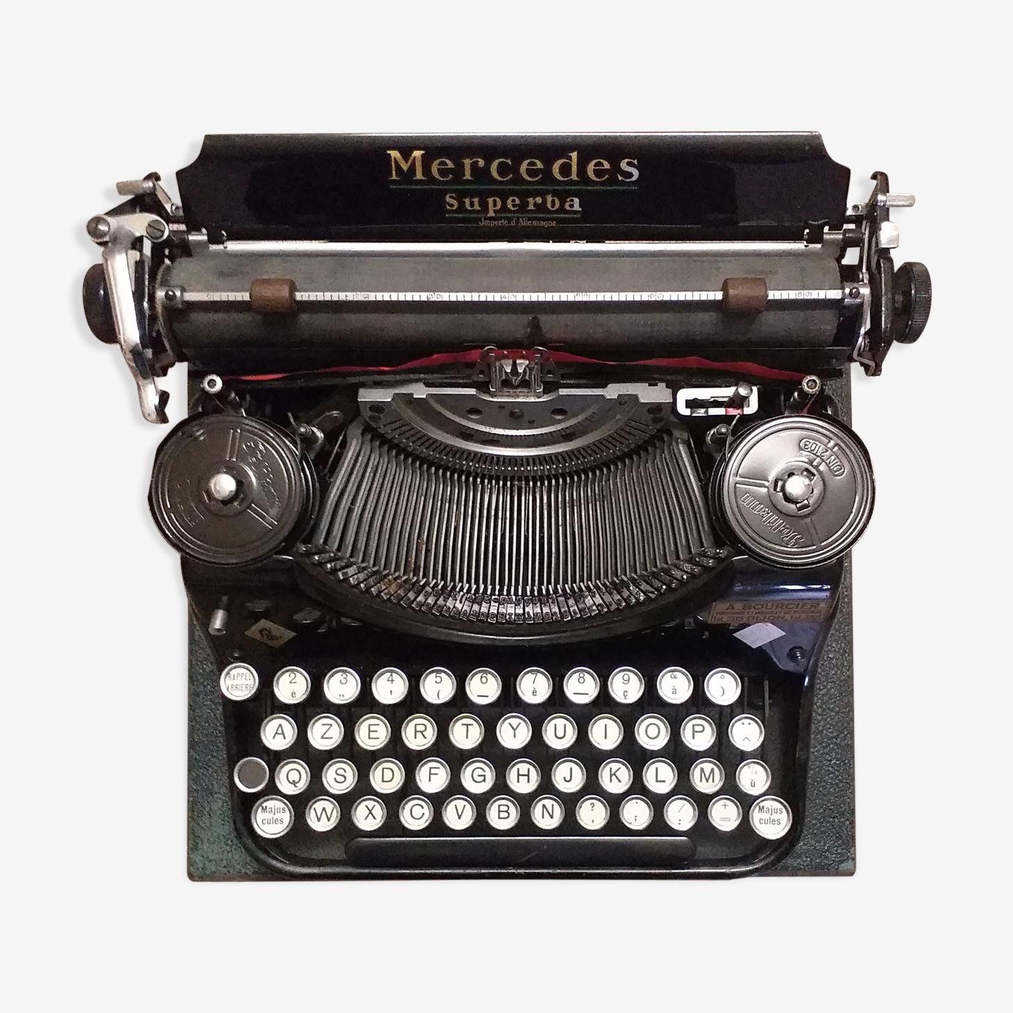 Machine à écrire Mercedes Superba