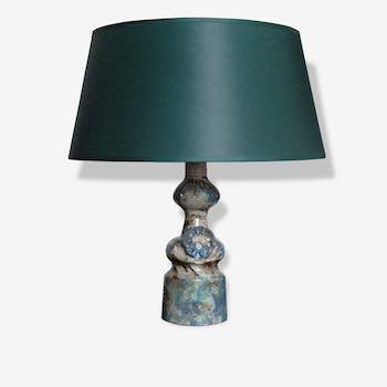 Lamp ceramic design character 1950-1960 era Dieulefit Vallauris