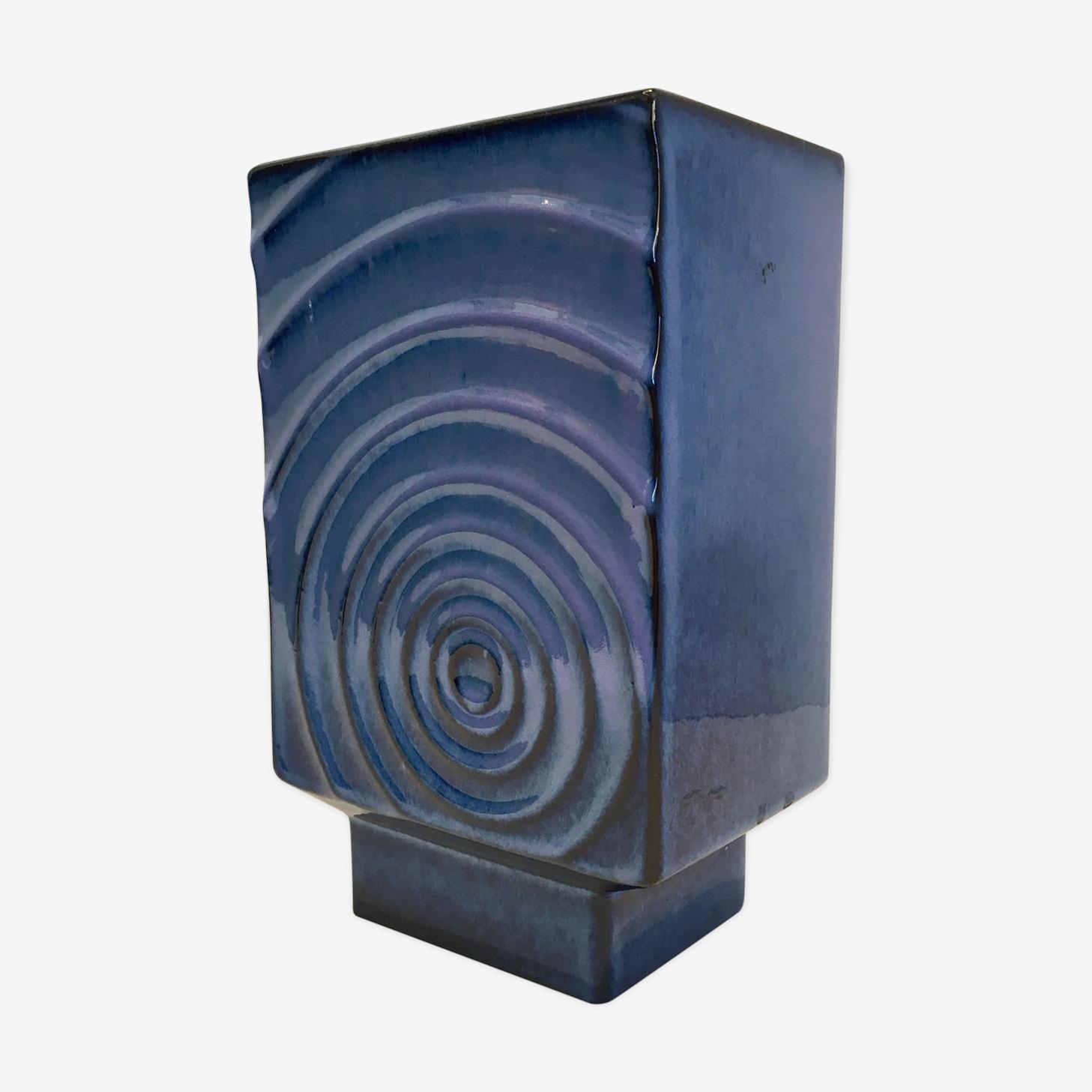 Vase céramique OPArt Cari Zalloni 1970 vintage