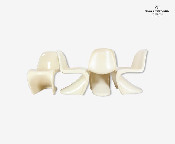 4 Panton fibreglass chairs, 1st Edition