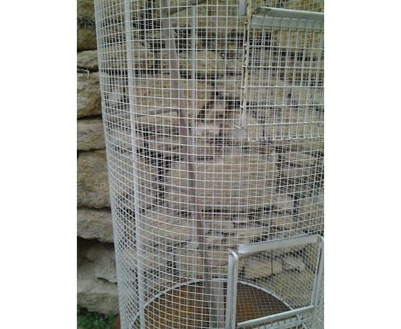Cage à oiseaux vintage 1950