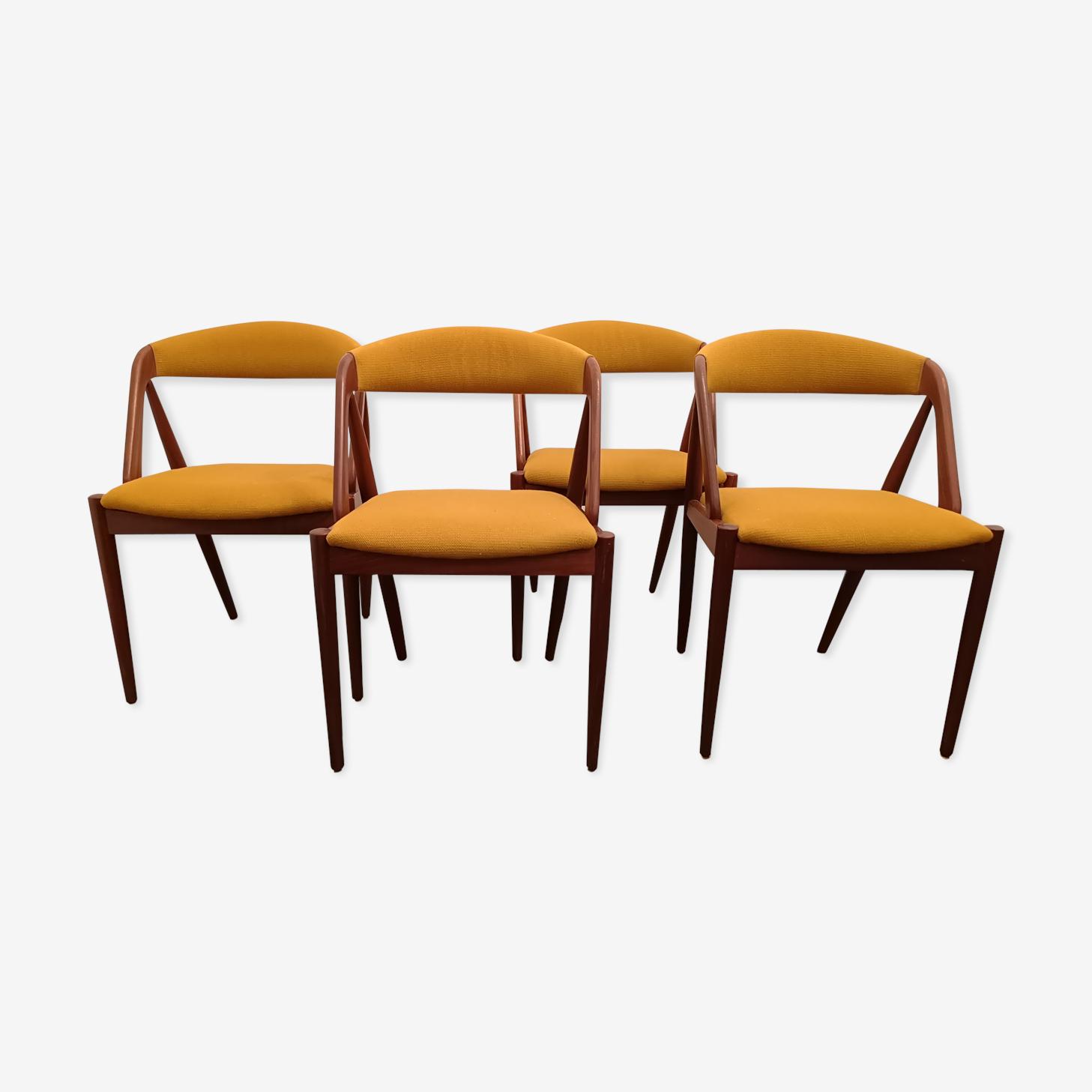 Set de 4 chaises Kai Kristiansen modèle 31 1960s