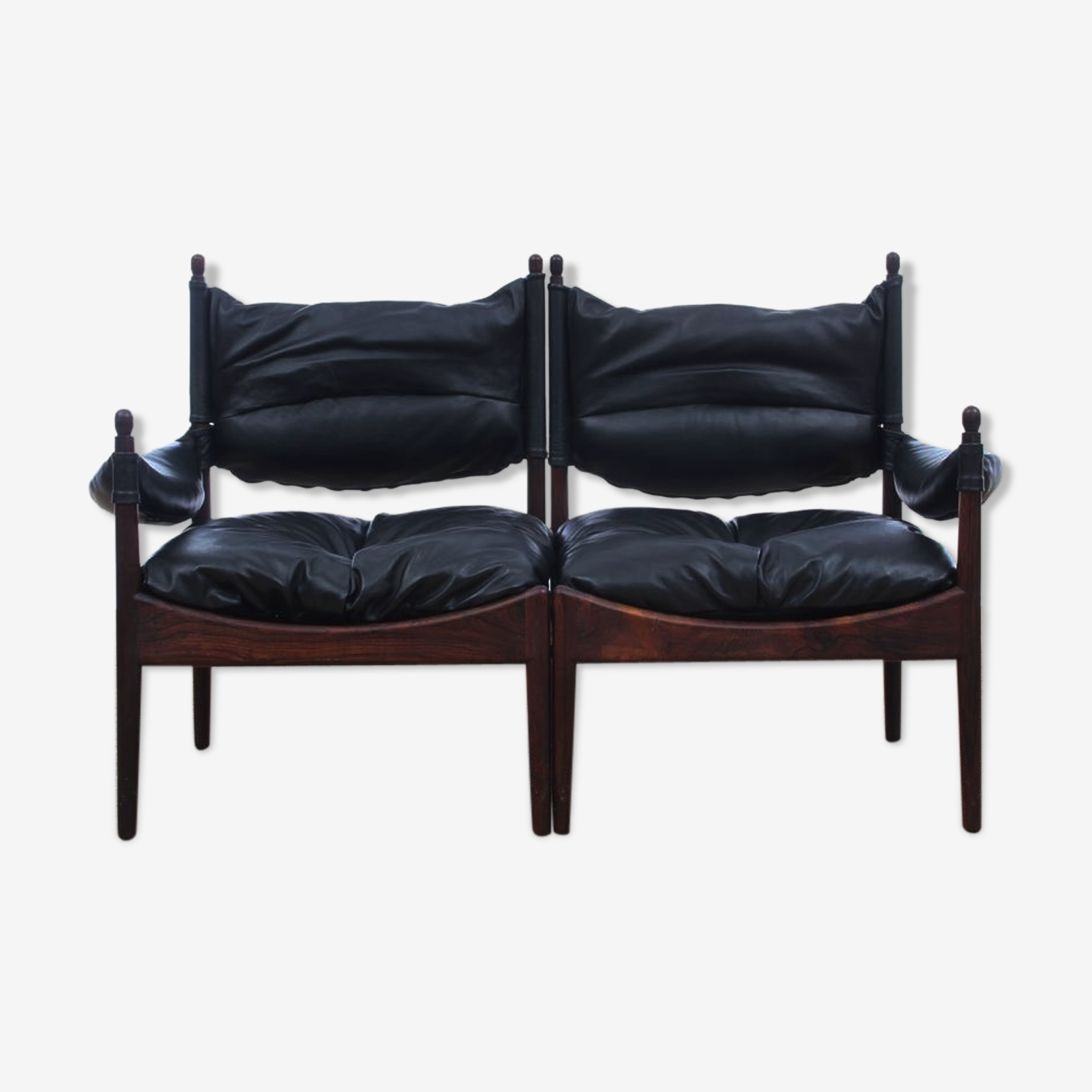 Canapé moderne à deux places par Kristian Vedel pour Soren Willadsen 1963