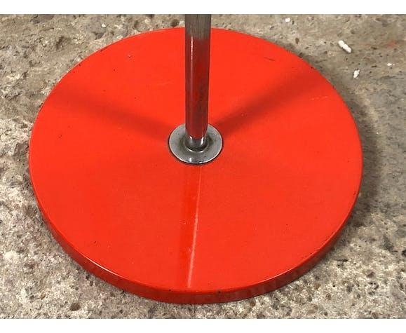 Lampe sur pied articulée italie en métal laqué orange et chromé