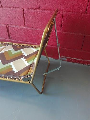 Chaise longue transat Lafuma vintage années 70