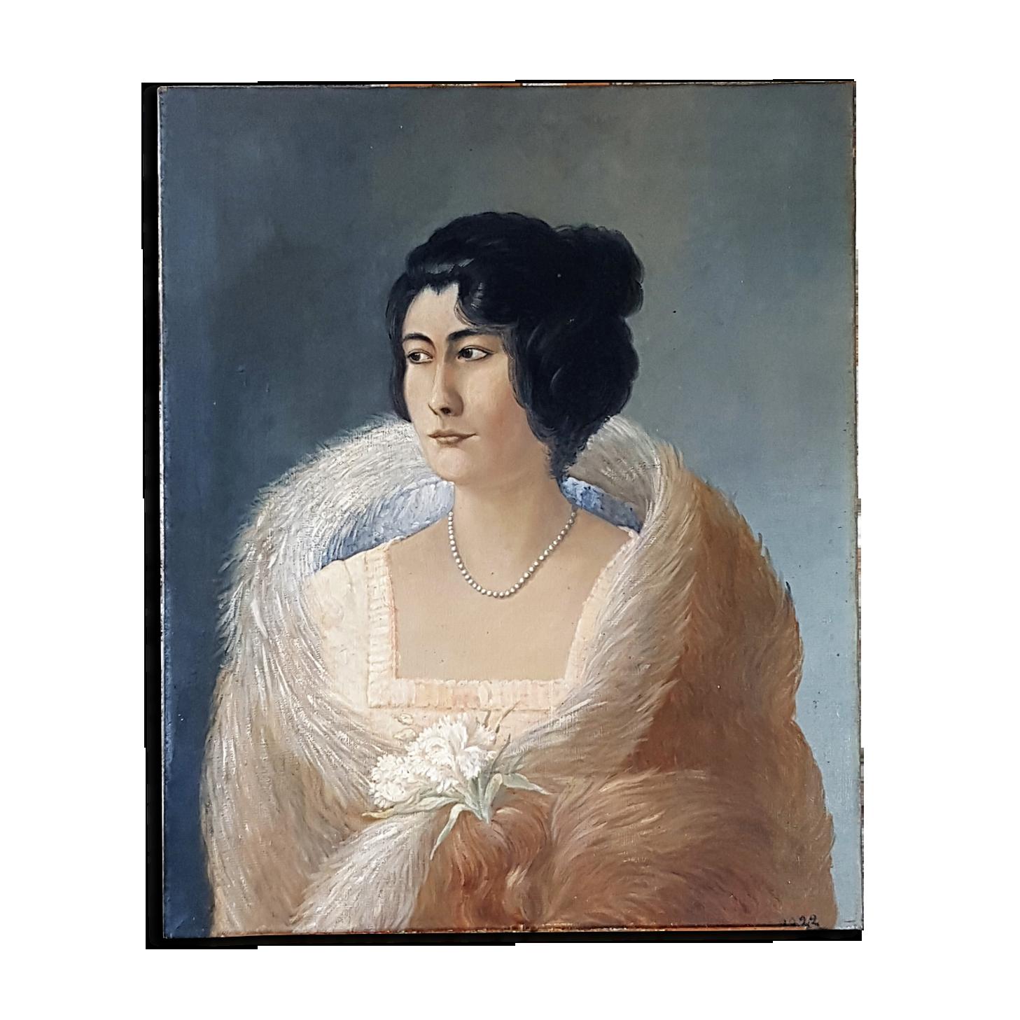 Portrait femme peinture huile sur toile |
