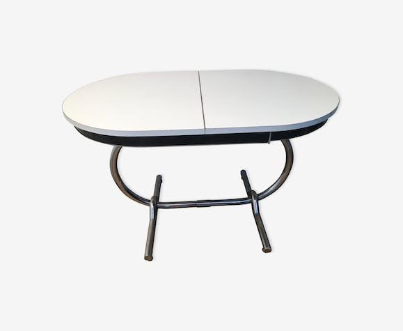 Table ovale originale en formica des années 60