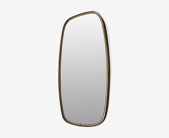 Miroir rétroviseur 46 x 24 cm vintage 1960