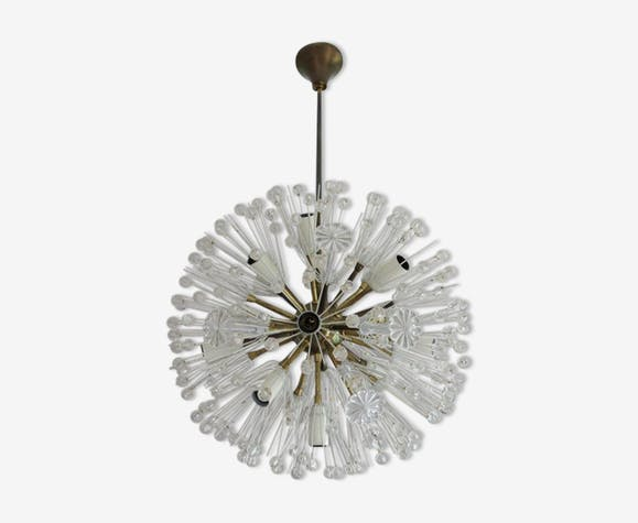 "Emil Stejnar ""Snowball"" pendant light for Rupert Nikoll, 1950s"