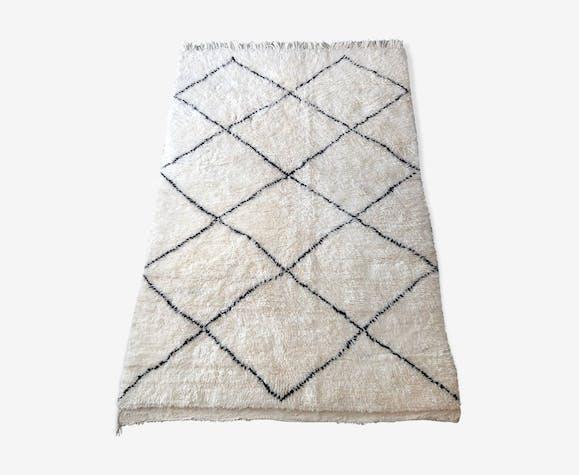 Tapis beni ouarain berbere en laine fait main 205x140cm