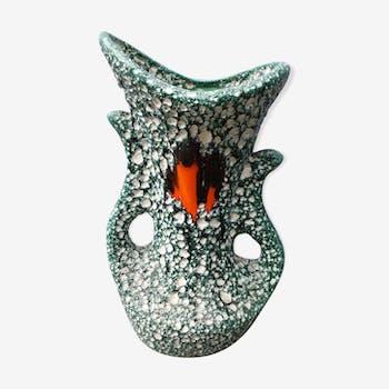 """Vase en céramique """"fat lava"""" vert"""