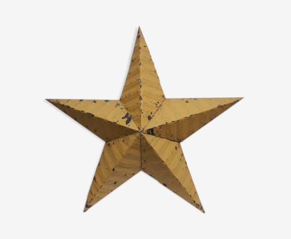 Étoile amish moutarde – 60 cm de diamètre