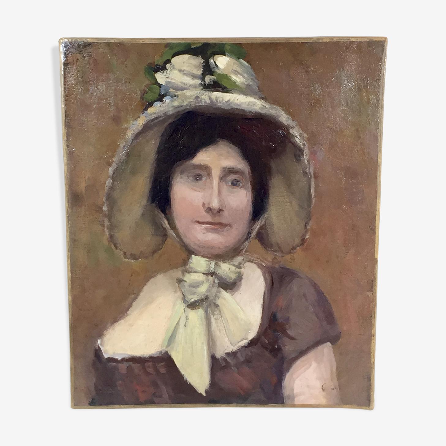 Portrait d'une femme vers 1900