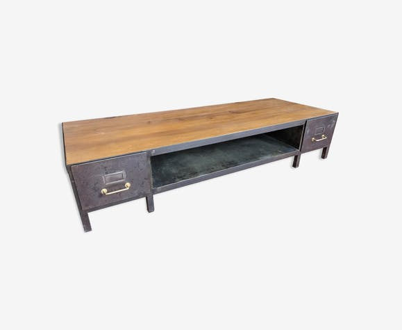 Table Basse Industriel Renovee 70 S Metal Gris Industriel