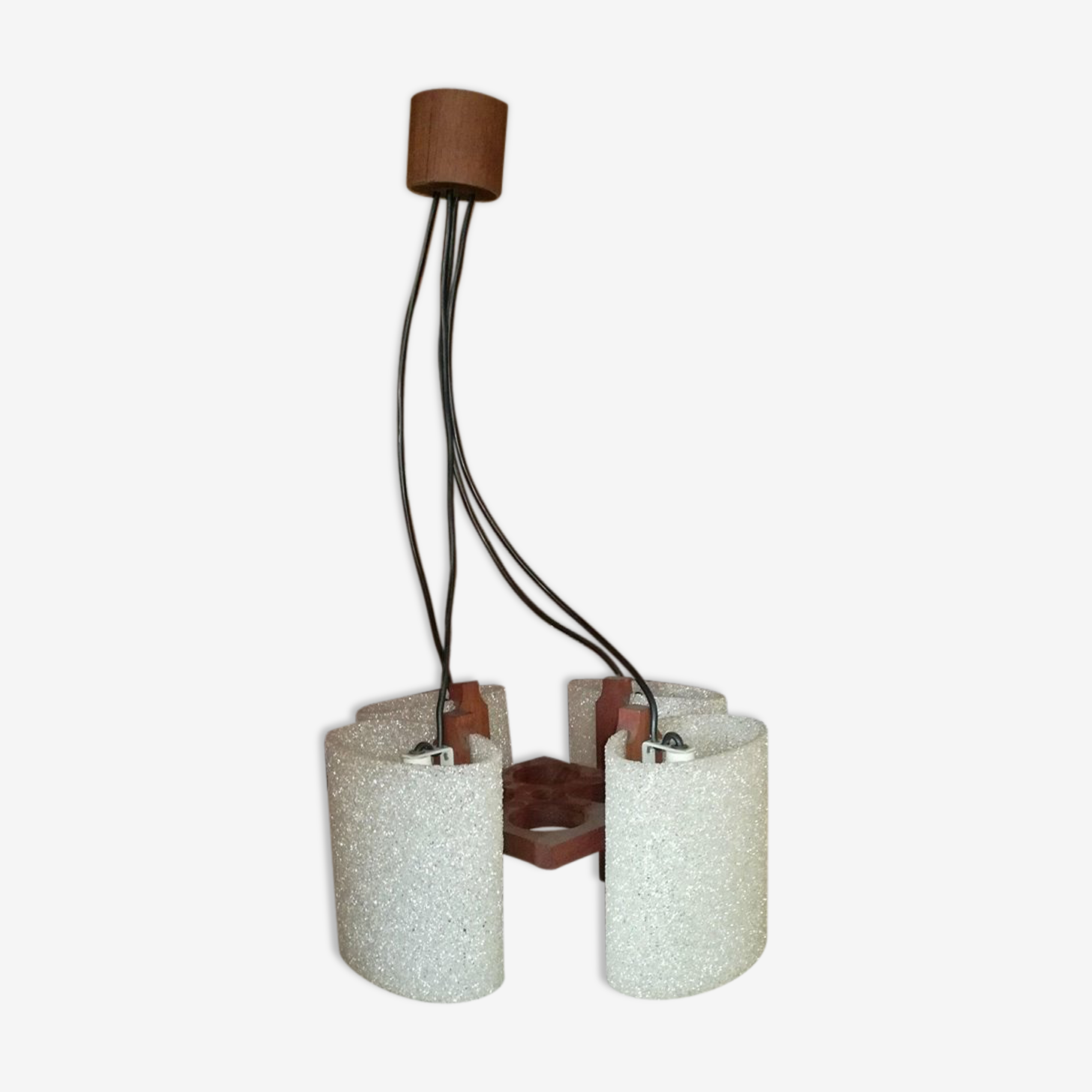 Hanging lamp granita glass