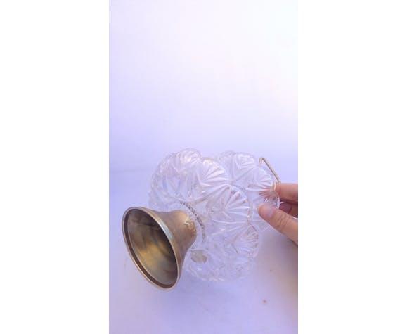 Présentoir serviteur en cristal et laiton