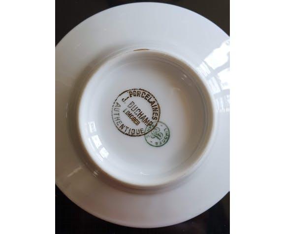 Tasses en porcelaine de Limoges Duchamp