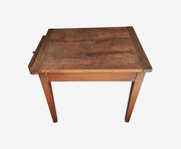 Table en chêne et en acajou