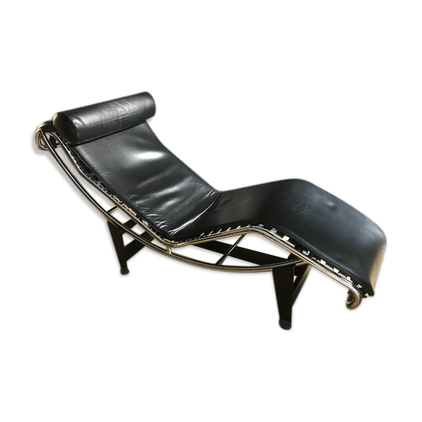 Cuir Noir 0rmzgxr État Design Le Bon Longue Chaise Lc4 Corbusier JTlFK1c