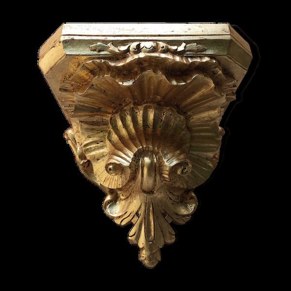 Console d'applique en bois doré