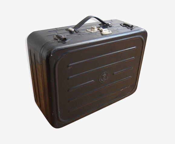 Old Navy black metal suitcase