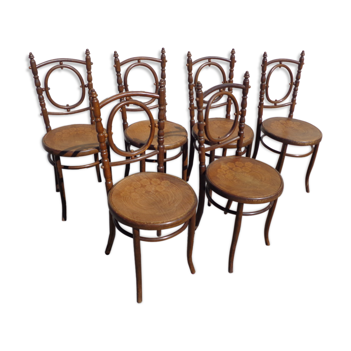 Gallery of ensemble de chaises bistrot fischel mdaillon for Chaise bistrot baumann prix