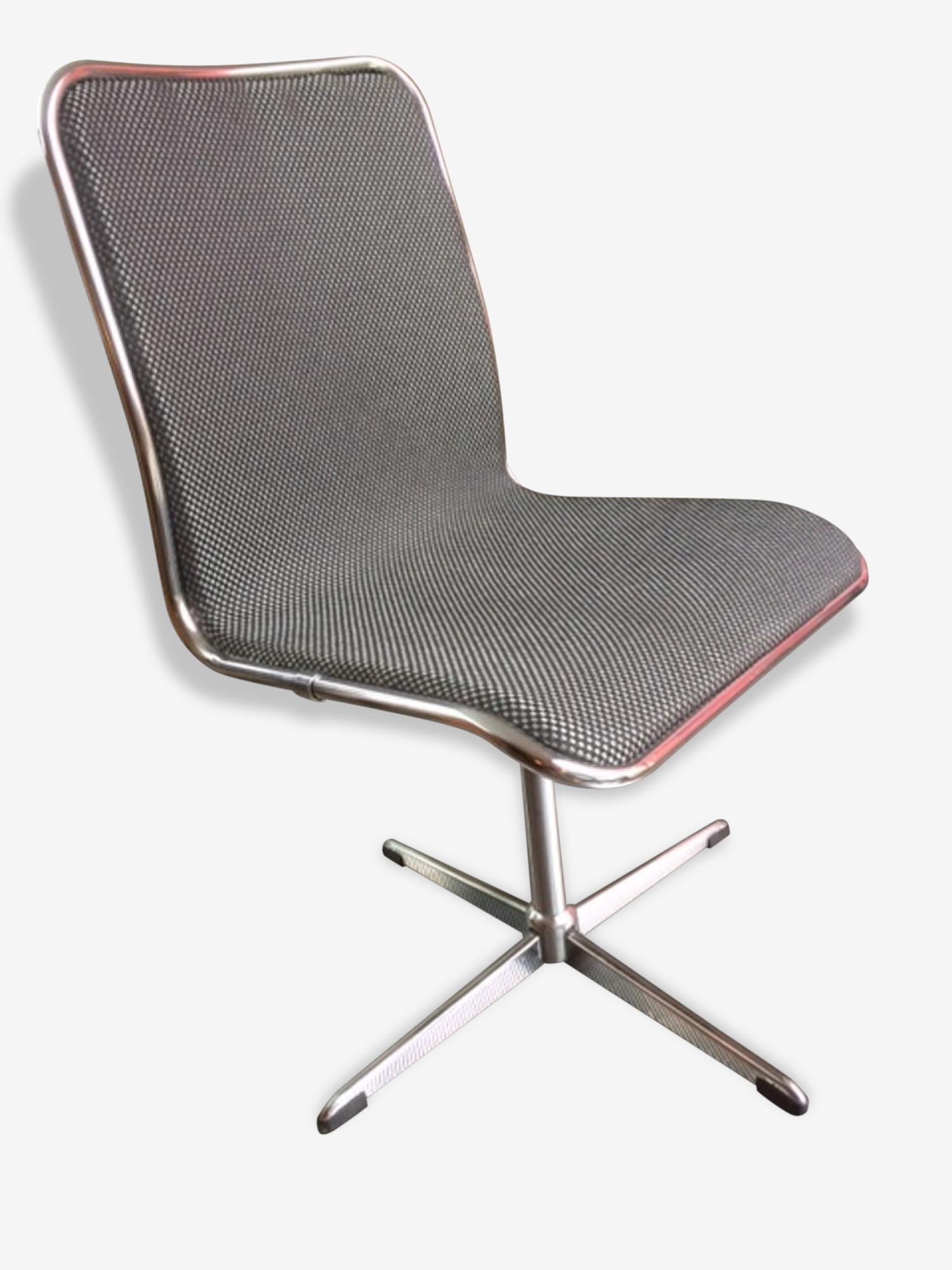 Chaise de bureau tournante vintage 1960