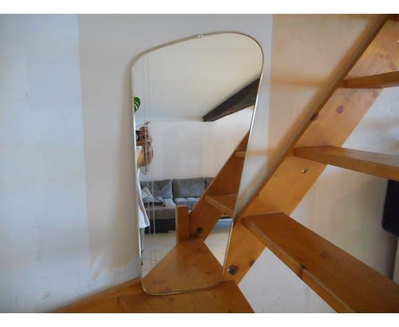 Miroir rétroviseur asymétrique forme libre vintage
