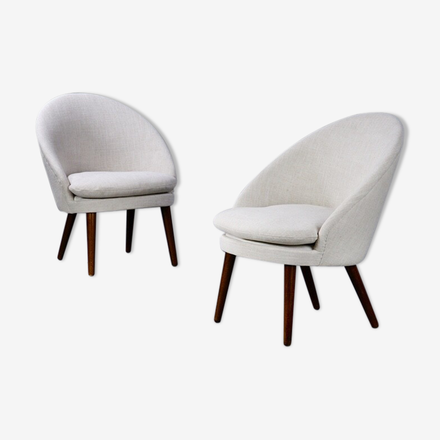 Paire de fauteuils danois de Ejvind A. Johansson - 1970