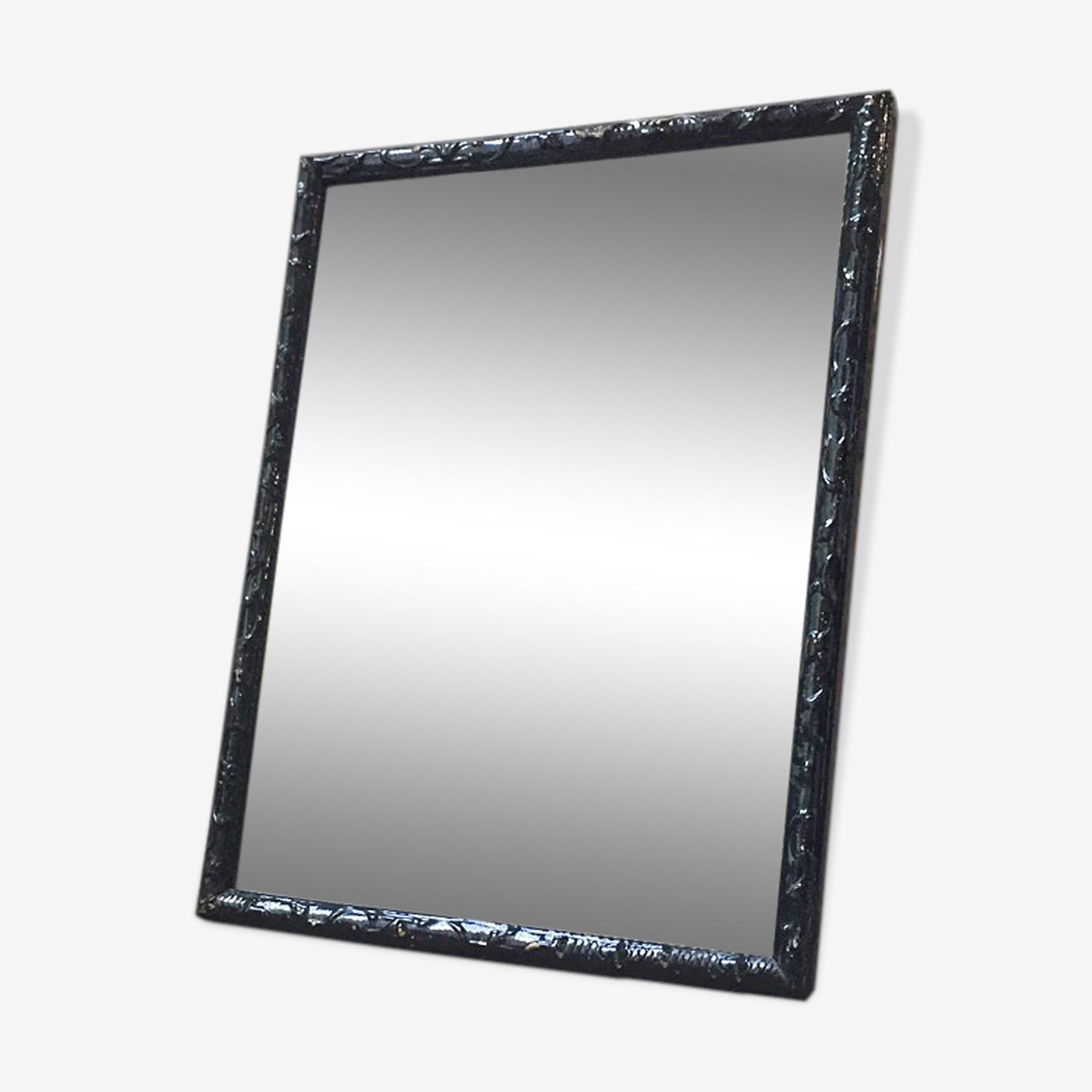 Black rectangle mirror 70 x 54 cm