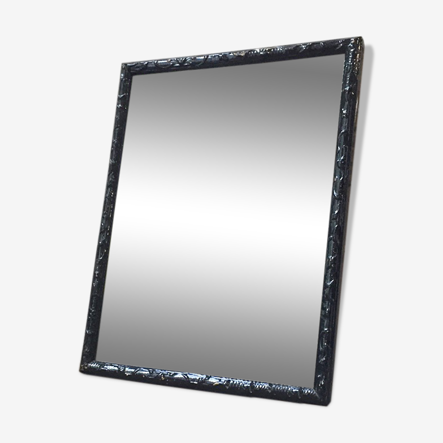 Miroir noir rectangle 70 x 54 cm