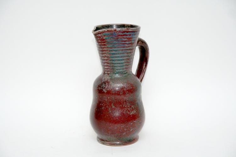 Pichet en grès rouge de cuivre Jean Maubrou
