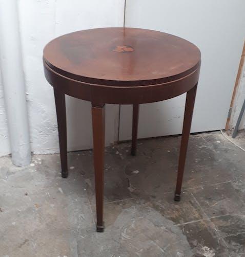 Table d'appoint guéridon bois marqueterie art déco 1930