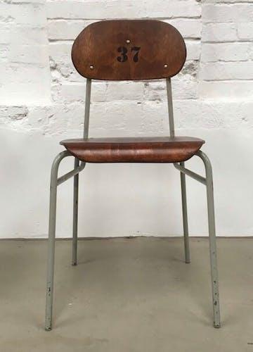 Chaise d'école Tchèque 1960