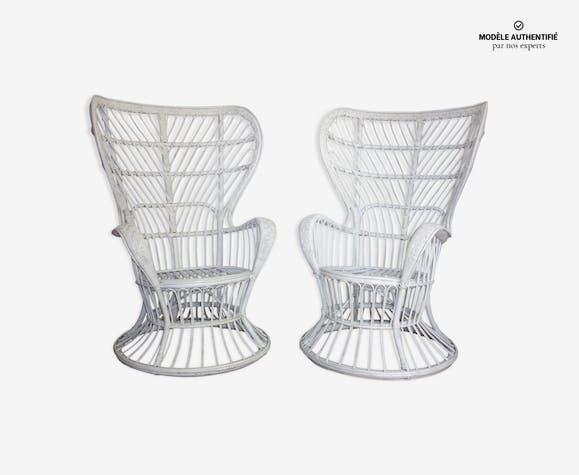Paire de fauteuils de Gio Ponti & Lio Carminati pour Bonacina années 50