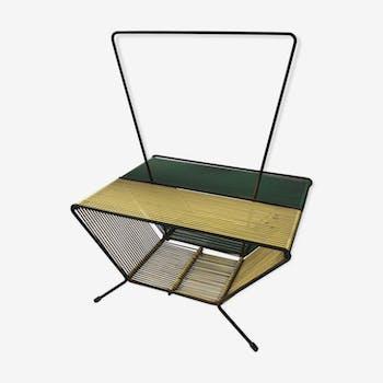 porte revues vinyles vintage fer jaune vintage gelc61c. Black Bedroom Furniture Sets. Home Design Ideas