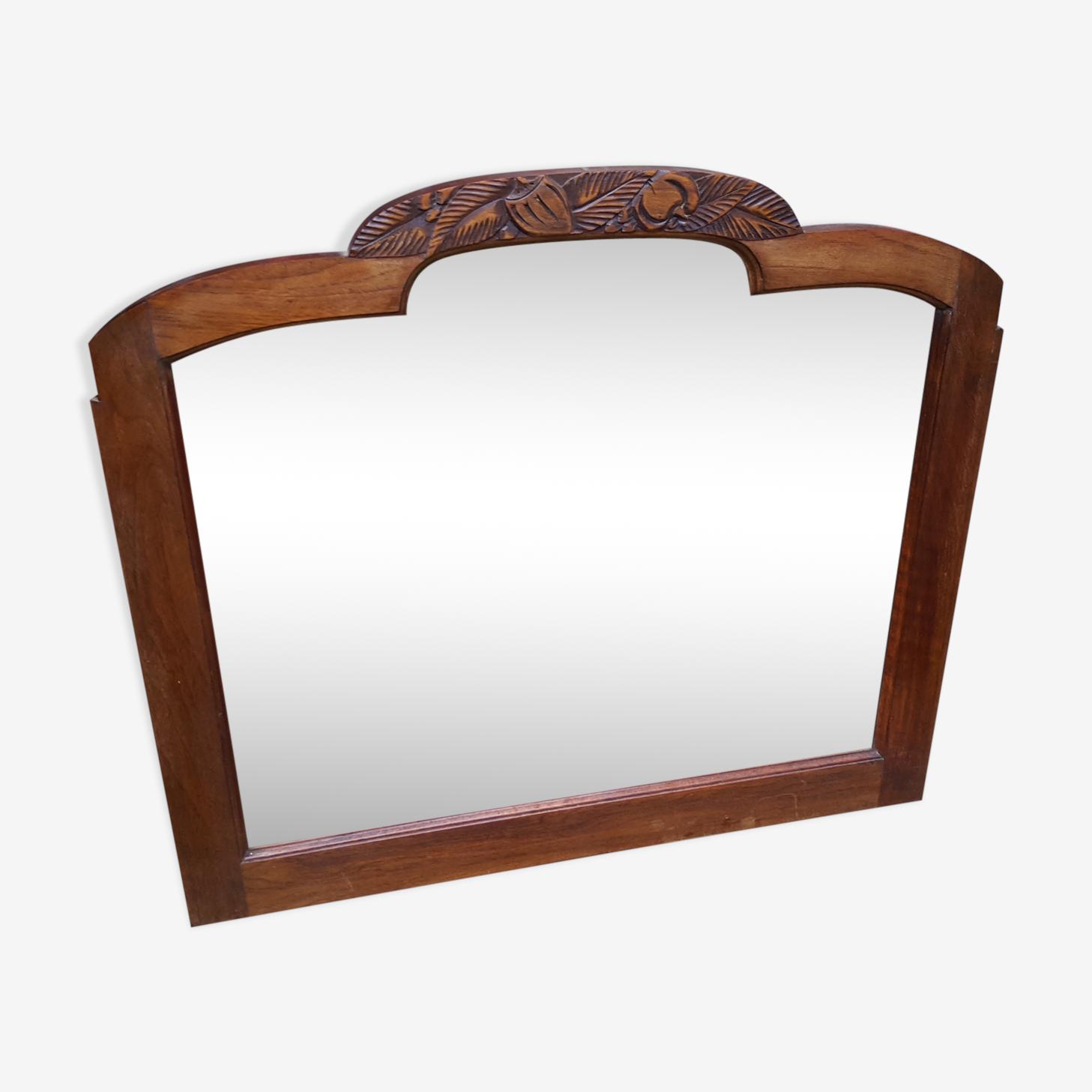 Miroir art déco biseauté 73x65 cm