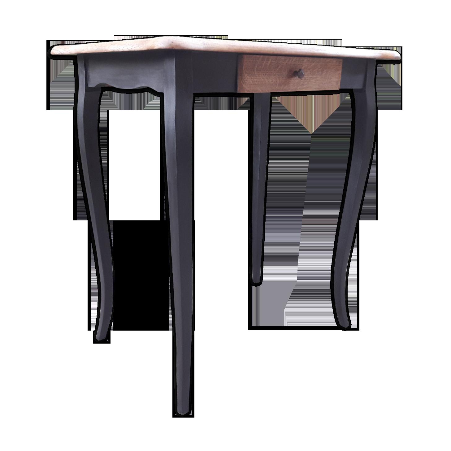 Table bureau noire bois matériau noir classique oyqn wc